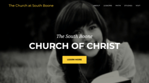 image of a church homepage